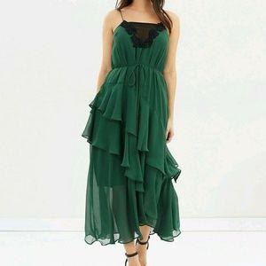 Cooper St evergreen lucille womens midi dress Sz 2